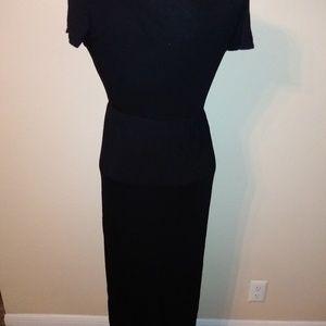 Pants - Black skirted romper